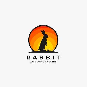 Kaninchenstand mit mondillustration.