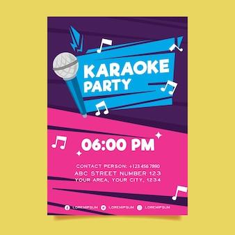 Karaoke abstrakte plakatschablone