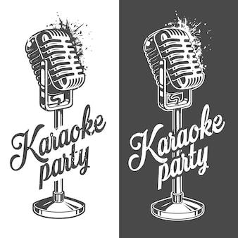 Karaoke-banner mit grunge-effekt