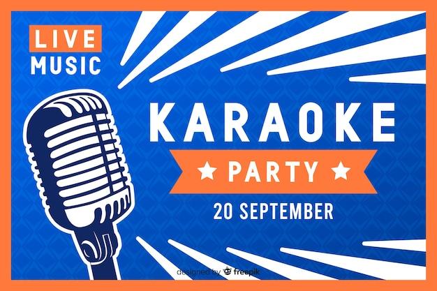 Karaoke banner vorlage flachen stil