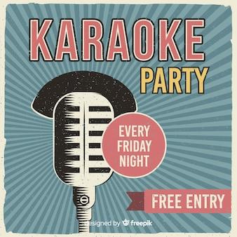 Karaoke banner vorlage retro-stil