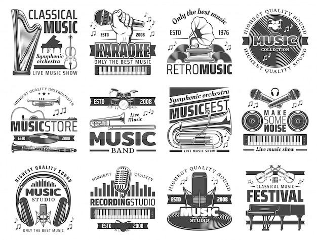 Karaoke-bar, musikclub und dj-aufnahmestudio