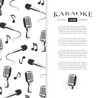 Karaoke club broschüre design