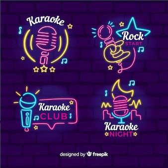 Karaoke club neonlicht-kollektion