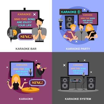 Karaoke-flachsatz