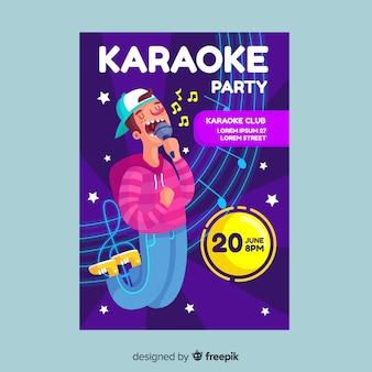 Karaoke night party flyer vorlage