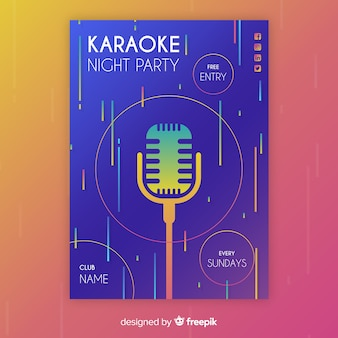 Karaoke night party poster oder flyer vorlage