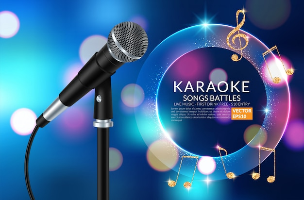 Karaoke party einladung flyer vorlage