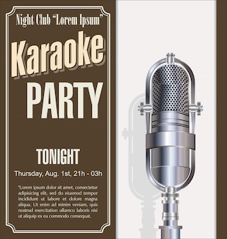 Karaoke party hintergrund