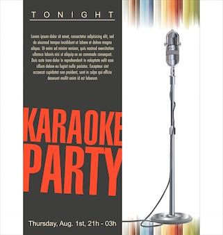 Karaoke-party-hintergrund