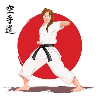 Karate frau
