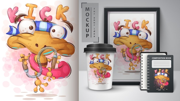 Karate frosch poster und merchandising