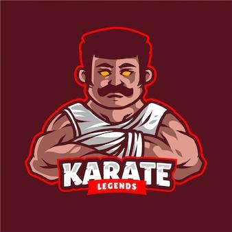 Karate legenden maskottchen logo