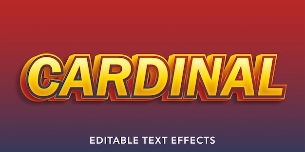 Kardinal bearbeitbare texteffekte