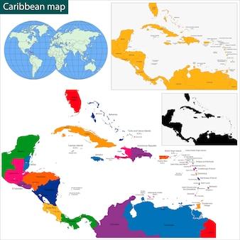 Karibische karte