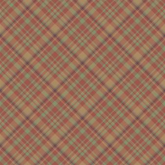 Kariertes nahtloses muster überprüfen. vektorhintergrund der textilverzierung. flaches stoffdesign. tartan.