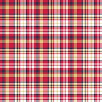 Kariertes nahtloses muster überprüfen. vektorhintergrund der textilverzierung.