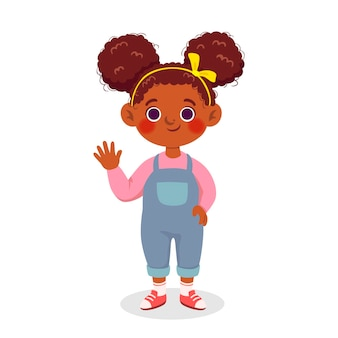 Karikatur afroamerikanermädchen