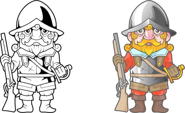 Karikatur britischer soldat illustration
