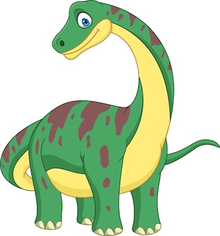 Karikatur brontosaurus getrennt auf weißem hintergrund