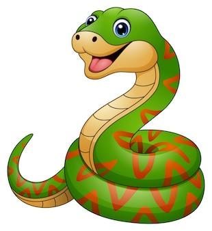 Karikatur der grünen schlange