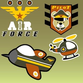 Karikatur der luftwaffe