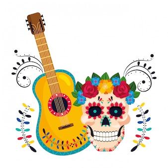Karikatur der mexikanischen kultur