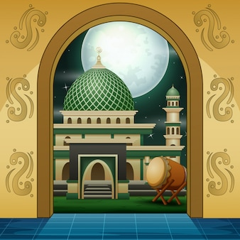 Karikatur des moslemischen moscheegoldeingangs