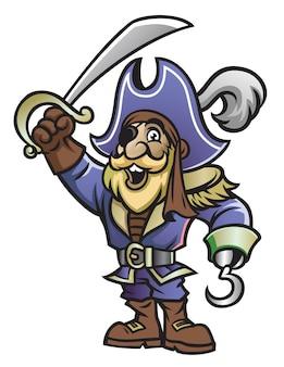 Karikatur des piraten