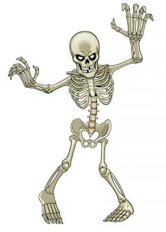 Karikatur des skelettgeistes