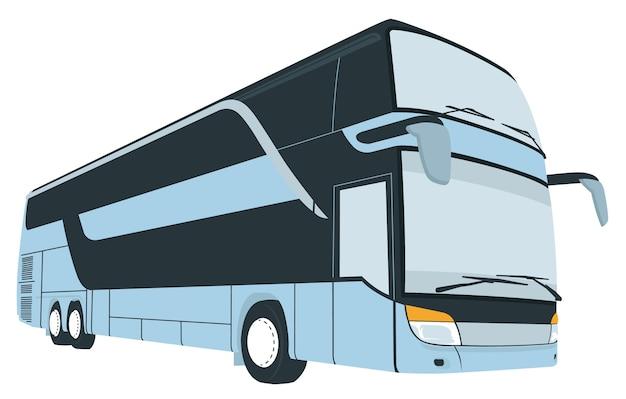 Karikatur des touristischen reisebuses