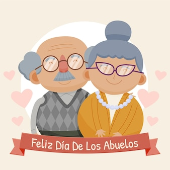Karikatur dia de los abuelos illustration