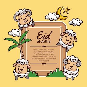 Karikatur eid al-adha illustration