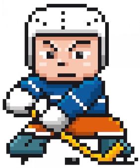 Karikatur-eishockeyspieler - pixelauslegung