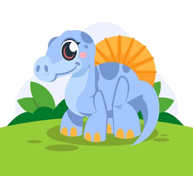 Karikatur entzückender baby-dinosaurier