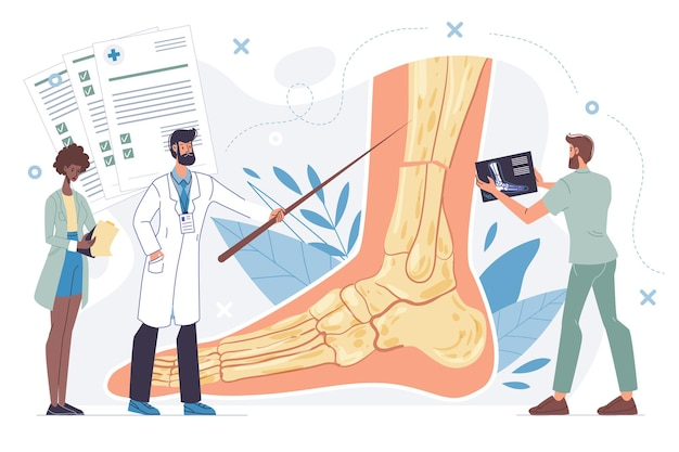 Karikatur flache doktorfiguren in einheitlichen laborkitteln