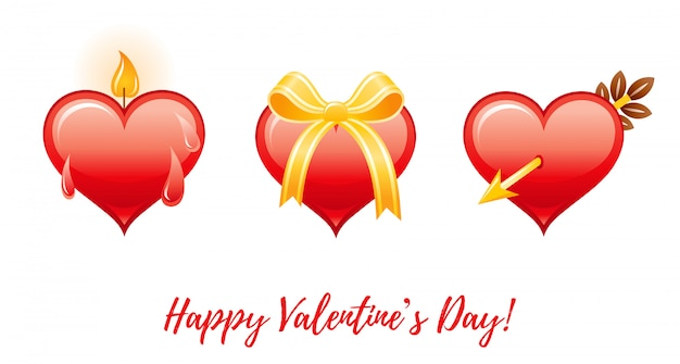 Karikatur-glücklicher valentinstag mit herzliebe.