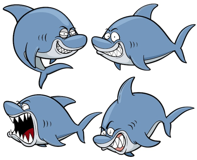 Karikatur-haifisch-charakter