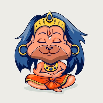 Karikatur hanuman jayanti illustration