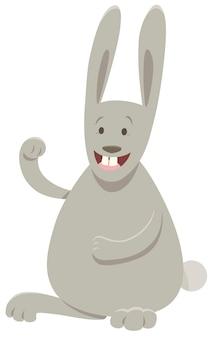 Karikatur-illustration des kaninchen-tiercharakters