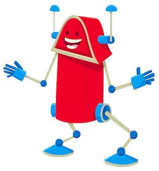Karikatur-illustration des lustigen roboter-zeichens