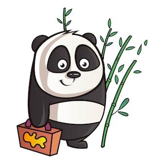 Karikatur-illustration des pandas.