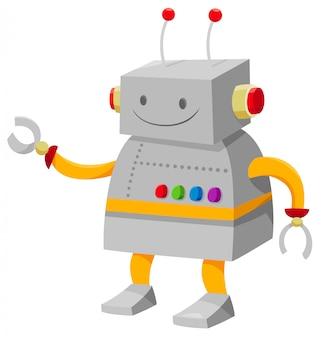 Karikatur-illustration des roboter-fantasie-zeichens