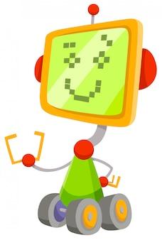 Karikatur-illustration des roboter-zeichens