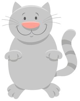 Karikatur-illustration von glücklichem grey cat oder von kätzchen