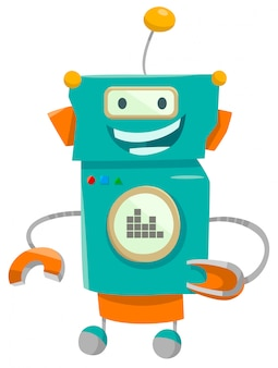 Karikatur-illustration von roboter-fantasie-charakteren