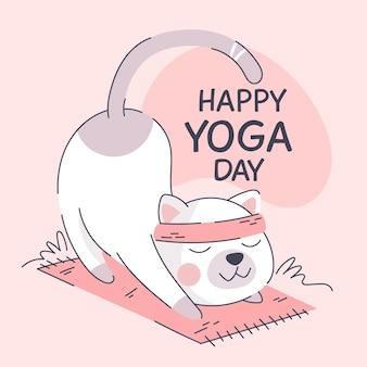 Karikatur internationaler tag der yogaillustration