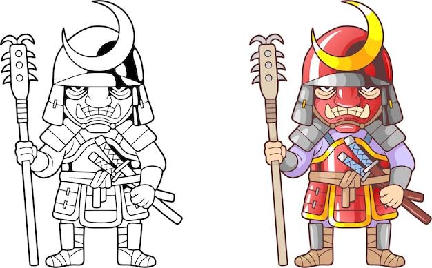 Karikatur japanischer soldat illustration