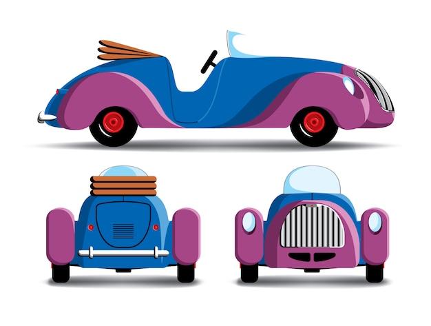 Karikatur lila auto