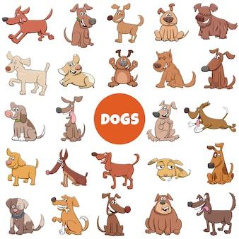 Karikatur lustige hundecharaktere großer satz